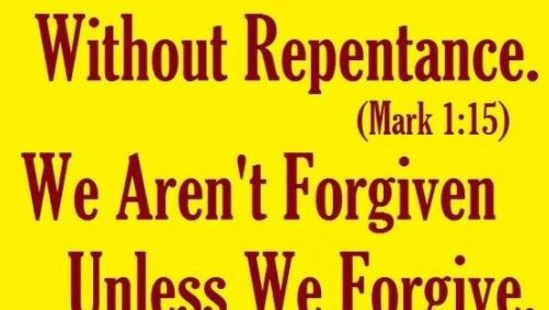 Repentance fo the remission of sins